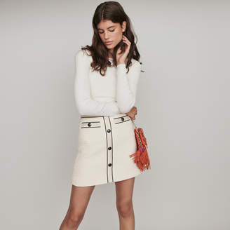 Maje Tweed-style contrast pencil skirt