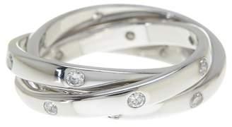 Sterling Forever Sterling Silver Triple Roll Etoile Ring