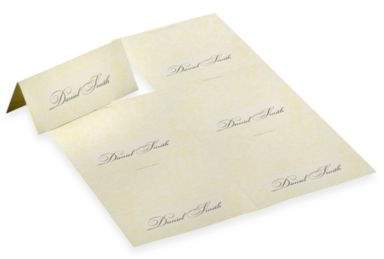 Laura Ashley White Pearl Placecards (Set of 4)
