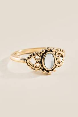 francesca's Gemma Boho Filigree Ring - White