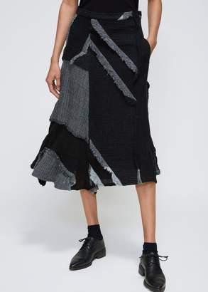 Yohji Yamamoto Right Tuck Skirt