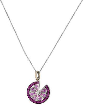 Pink & Yellow Sapphire Pendant Necklace