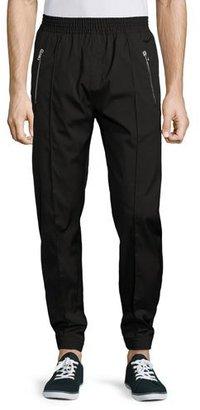 Givenchy Zip-Pocket Jogger Pants, Black $760 thestylecure.com