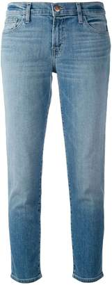 J Brand cropped straight leg jeans