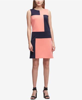 DKNY Colorblocked Shift Dress, Created for Macy's