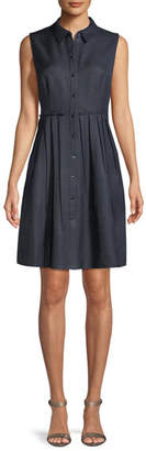 Elie Tahari Samiyah Sleeveless Button-Front Dress