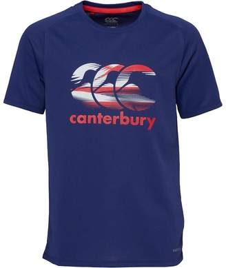 Canterbury of New Zealand Junior Vapodri Large Logo Poly Top Patriot Blue