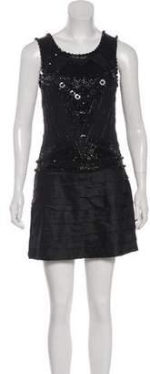 Just Cavalli Embellished Sleeveless Mini Dress