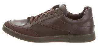Salvatore Ferragamo Round-Toe Low-Top Sneakers