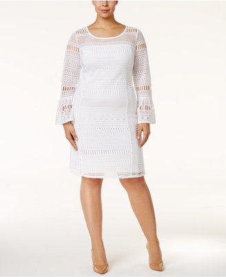 Alfani Plus Size Lace Shift Dress, Only at Macy's $119.50 thestylecure.com