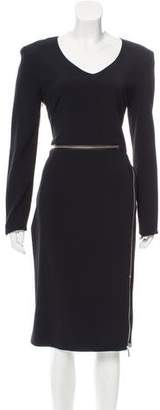 Tom Ford Zip-Trimmed Midi Dress
