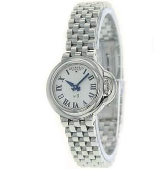 Bedat & Co Bedat Women's 827.011.600 No. 8 Steel Case Bracelet Silver Roman Dial Watch