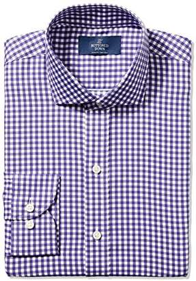 Buttoned Down Men's Slim Fit Spread-Collar Pattern Non-Iron Dress Shirt