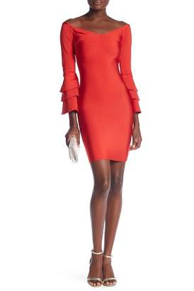 Wow Couture Tiered Sleeve Bandage Dress
