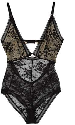 Free People No Trace Plunge Lace Bodysuit