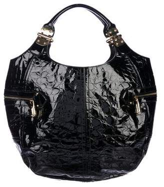 Alexander McQueen Embossed Leather Hobo