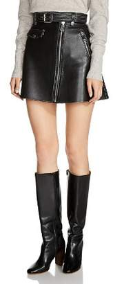 Maje Jouki Leather Mini Skirt