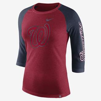 Nike Tri-Blend Raglan (MLB Nationals) Women's 3/4 Sleeve Top