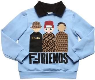 Fendi Friends Print Cotton Sweatshirt
