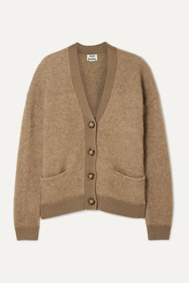 Acne Studios Rives Oversized Knitted Cardigan - Camel