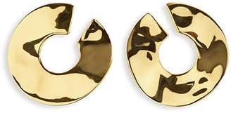 Ippolita 18K Senso Open Wavy Disc Earrings