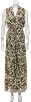 Natalie Martin Printed Maxi Dress Yellow Printed Maxi Dress