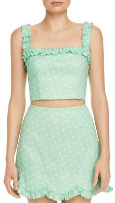 e4a8cfe0 Finders Keepers Wildflower Floral-Print Cropped Top
