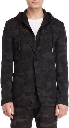 ProjekRaw Projek Raw Camo Hooded Blazer