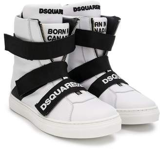 DSQUARED2 (ディースクエアード) - Dsquared2 Kids TEEN high-top sneakers