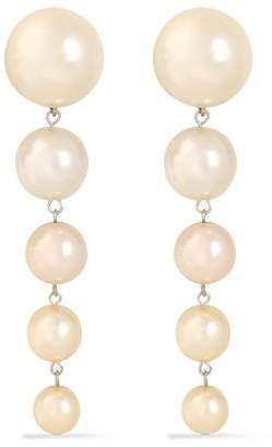 Ben-Amun Ben Amun Silver-tone Faux-pearl Clip Earrings