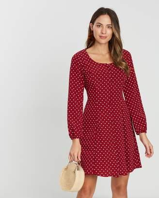 Dorothy Perkins Spot Button Tea Dress