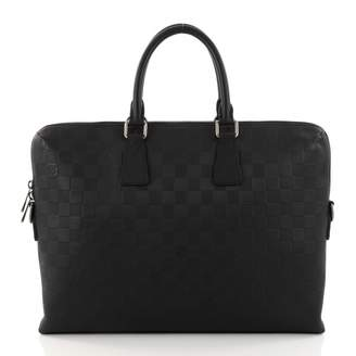 Louis Vuitton Keepall leather bag