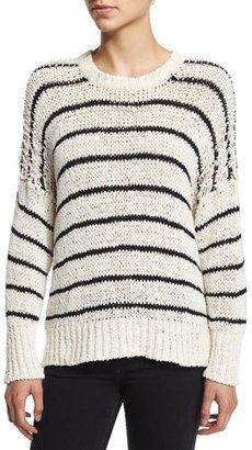 Iro Odessa Striped Sweater $380 thestylecure.com