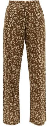 Dodo Bar Or Hattie Floral Print Cotton Wide Leg Trousers - Womens - Green Print