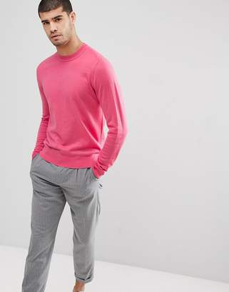 Paul Smith Merino Crew Neck Sweater In Pink