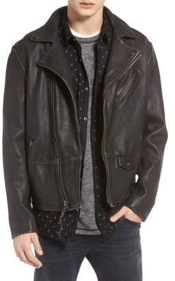 Treasure & Bond Trim Fit Leather Biker Jacket