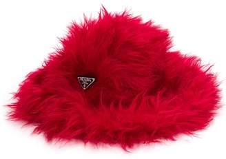 Prada faux-fur fedora hat