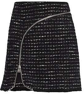 Alexander Wang Women's Zipper-Trimmed Tweed Mini Skirt - Size 0
