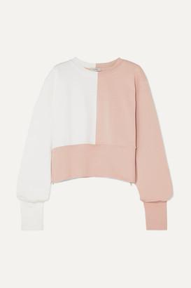 Vaara Maeve Paneled Cotton-blend Jersey Sweatshirt - Baby pink