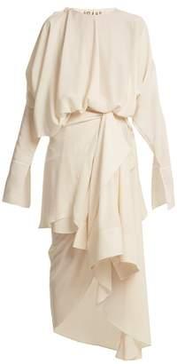 Awake Draped Shirt Overlay Dress - Womens - Cream