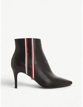 Dune Opaque side stripe leather ankle boots