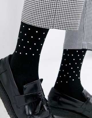 Asos DESIGN party socks with diamantes
