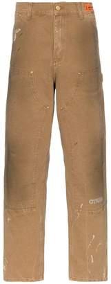 Heron Preston Carhartt distressed detail slack panel jeans