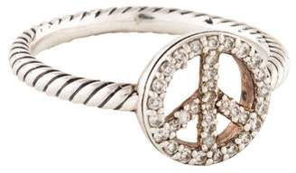 David Yurman Cable Collectibles Peace Sign Ring