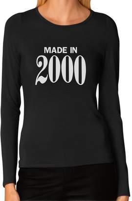 IDEA Tstars Made In 2000 16th Birthday Gift Retro Cool Women Long Sleeve T Shirt
