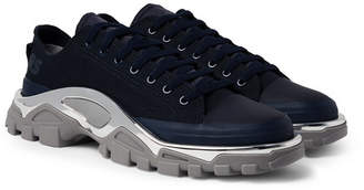 Raf Simons + Adidas Originals Detroit Runner Rubber-Trimmed Canvas Sneakers