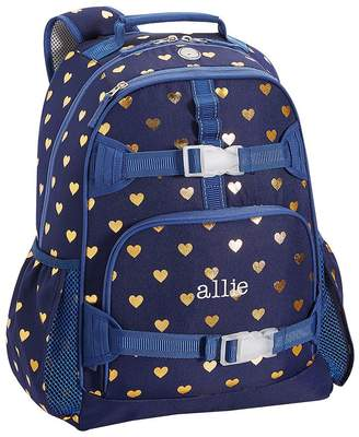 Pottery Barn Kids Small Backpack, Mackenzie Navy Gold Heart