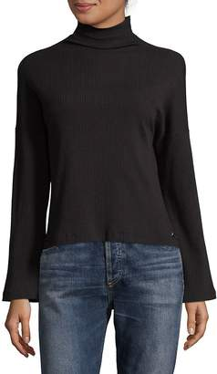 Betsey Johnson Performance Women's Mockneck Flare-Sleeve Sweater