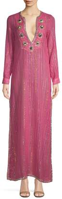 Manoush Women's Metallic Stripe Caftan