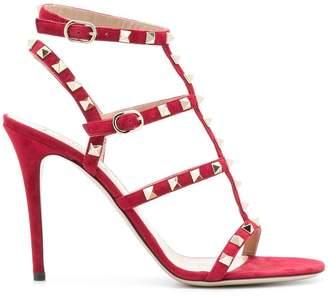 Valentino Rockstud strappy stiletto heels